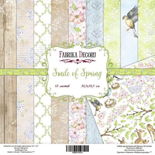 "Набор скрапбумаги ""Smile of Spring"", 30,5см х 30,5 см, Фабрика Декора"
