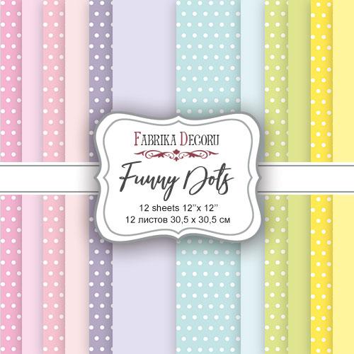 "Набор скрапбумаги  ""Funny Dots"", 30,5 x30,5 см, Фабрика Декору"