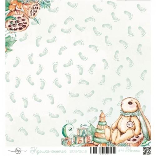 """Лист односторонней бумаги """"Ножки"""" из коллекции Крошка-сыночек ScrapEgo, 30*30 см фото"""