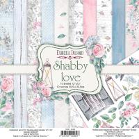 "Набор скрапбумаги ""shabby love"", 30,5см х 30,5 см, Фабрика Декора"