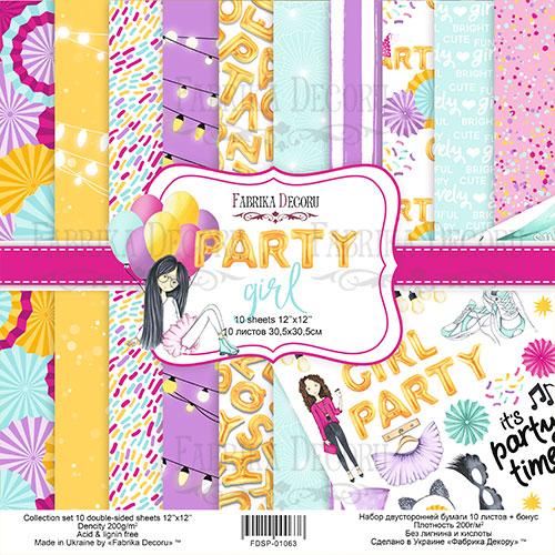 "Набор скрапбумаги  ""Party girl"", 30,5 x30,5 см, Фабрика Декору"