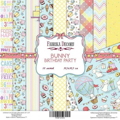 "купить набор скрапбумаги ""Bunny birthday party"" 30,5 Х 30,5 см, Фабрика Декору"