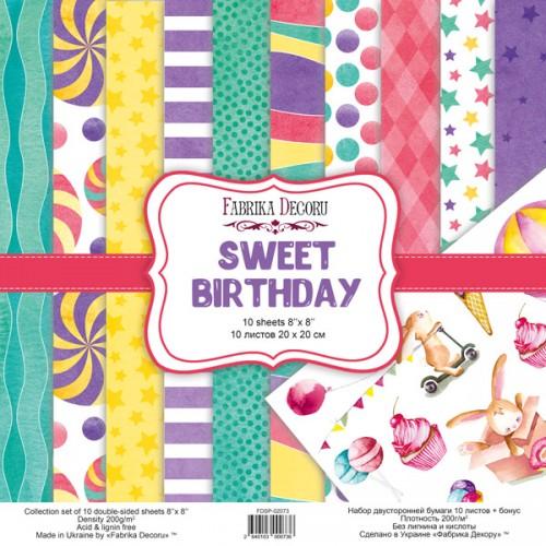 Набор скрапбумаги sweet birthday 20x20 см, Фабрика Декору