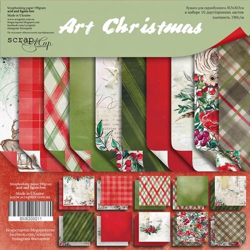 Набор двусторонней бумаги Art Christmas 30х30см от Scrapmir