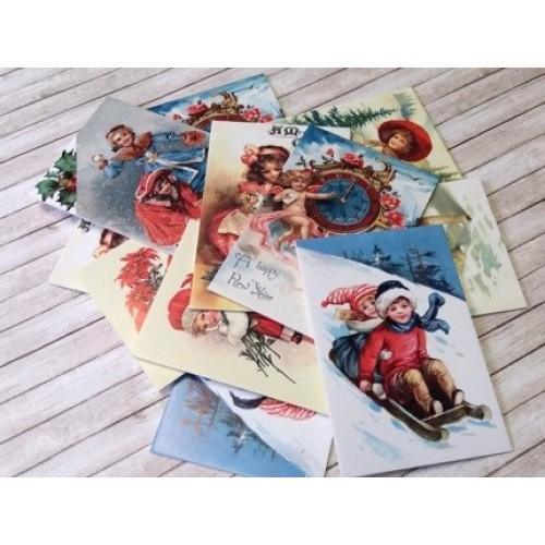 """купить набор карточек """"Merry Christmas"""" Евгения Курдибановская"""