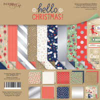 Набор двусторонней бумаги Hello Christmas 20х20см от Scrapmir