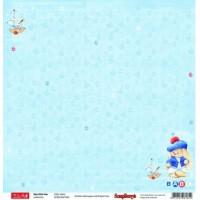 Лист двухсторонней бумаги Зайка по морям 30х30 см. ScrapBerry's