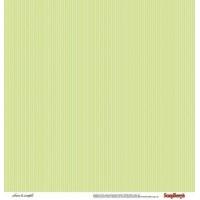 """Лист двусторонней бумаги 30x30 """"Горошек и полоски Зеленые"""" из коллекции """"Чисто и просто"""" (Clean&Simple), Scrapberry's"""
