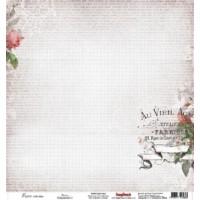 Лист односторонней бумаги 30х30 см 180 гр/м Элегия Поэзия ScrapBerry's