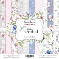 "Набор двусторонней бумаги ""Tender orchid"" 20x20см, Фабрика Декору"