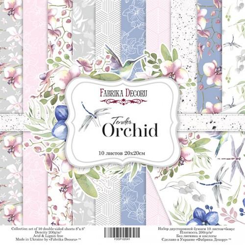 "Набор двусторонней бумаги ""Tender orchid"" 20x20см Фабрика Декору фото"