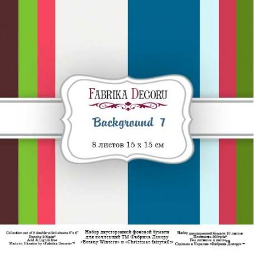 "Набор двусторонней бумаги ""Background 7"" 15 Х 15 см, Фабрика Декору"
