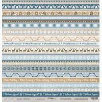 Лист односторонней бумаги 30x30 от Scrapmir С Праздником из коллекции Rustic Winter