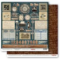 Лист двухсторонней бумаги  Postcards for Pennies 30х30 см ScrapBerry's