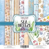 "Набор скрапбумаги ""Sea Breeze"" 20x20см, Фабрика Декору"