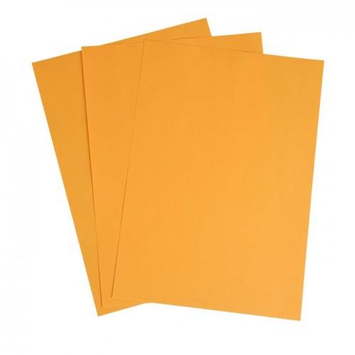 Цветная двусторонняя бумага Оранжевая 130 г/м2, 29.7х21 см