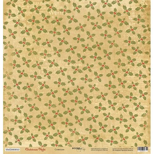 Лист односторонней бумаги Созвездие 30x30 см из коллекции Christmas Night от Scrapmir фото