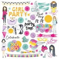 """Лист с картинками для вырезания """"Party girl"""" Фабрика Декору"""