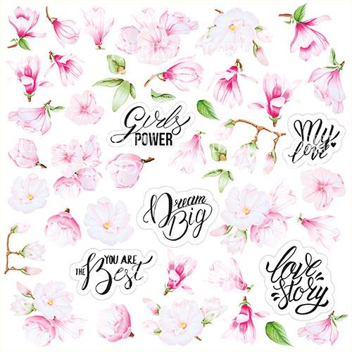 """Лист с картинками для вырезания """"Magnolia in bloom"""" Фабрика Декору фото"""