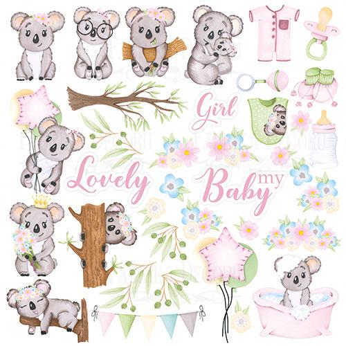 """Лист с картинками для вырезания """"Puffy Fluffy Girl"""" Фабрика Декору"""