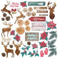 """Лист с картинками для вырезания """"Christmas fairytales"""" Фабрика Декору"""