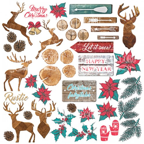 """Лист с картинками для вырезания """"Christmas fairytales"""" Фабрика Декору фото"""