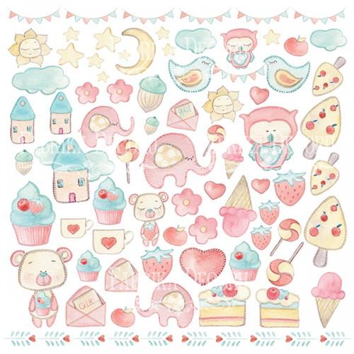 "Картинки для вырезания ""Sweet baby girl"" Фабрика Декору фото"