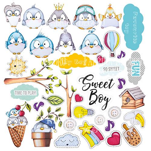 """Лист с картинками для вырезания """"My tiny sparrow boy"""" Фабрика Декору фото"""