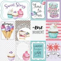 """Картинки для декорирования """"Candy Shop"""" набор №2 (eng)  Фабрика Декору"""