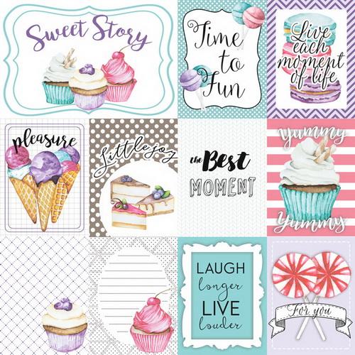 """Картинки для декорирования """"Candy Shop"""" набор №2 (eng)  Фабрика Декору фото"""