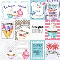 """Картинки для декорирования """"Candy Shop"""" набор №3 (ukr)  Фабрика Декору"""
