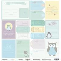 Лист односторонней бумаги 30x30 от Scrapmir Карточки из коллекции Baby Boy