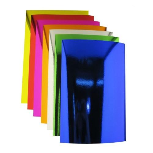 Картон зеркальный Малиновый А4 фото