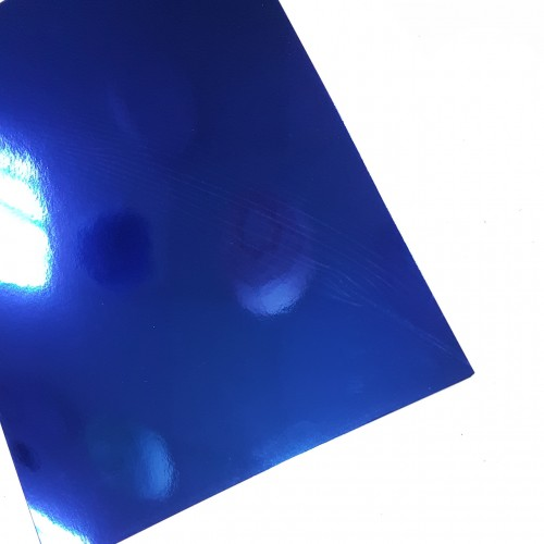 Картон зеркальный Синий А4 фото