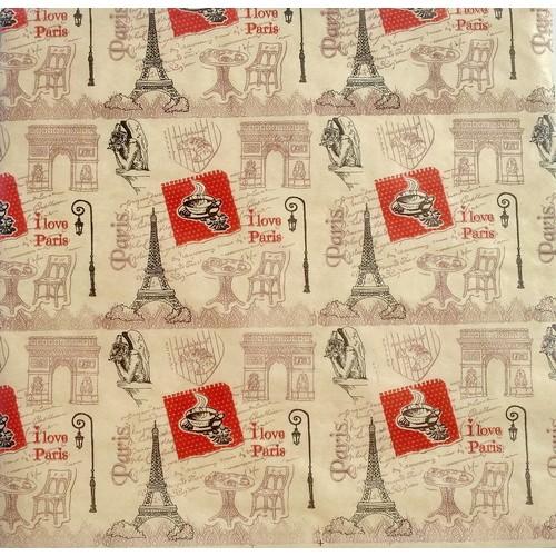 "Крафт-бумага с рисунком ""Париж"" Фабрика Декору 30*30 см фото"