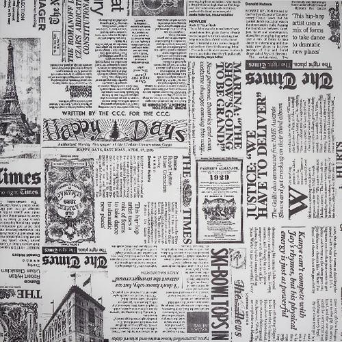 "Крафт-бумага с рисунком ""Белая газета"" Фабрика Декору 30*30 см фото"