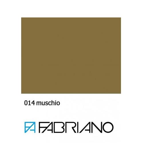 Бумага для пастели Tiziano A4 (21*29,7см), №14 muschio, 160г/м2, Оливковая, среднее зерно, Fabriano