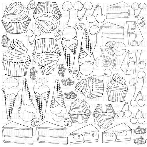 """Лист для для раскрашивания аква-чернилами """"Candy shop"""" Фабрика Декору 30,5x30,5см фото"""