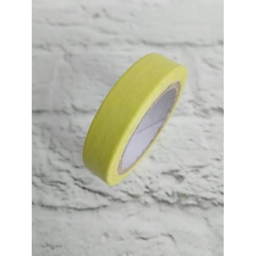 Бумажный, декоративный скотч. Желтый