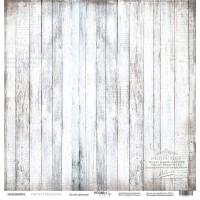 Лист односторонней бумаги Белый граундж из коллекции French Provence от Scrapmir, 30*30 см