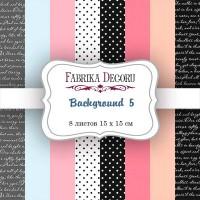 "Набор скрапбумаги ""Background 5"" 15 Х 15 см, Фабрика Декору"