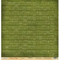 Лист односторонней бумаги Мелодия из коллекции Christmas Night от Scrapmir, 30*30 см