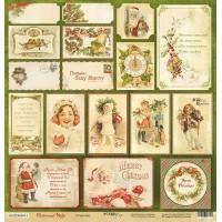Лист односторонней бумаги 30x30 от Scrapmir Открытки из коллекции Christmas Night