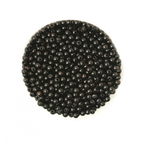 Бусины акриловые Черные 4 мм, 100 шт