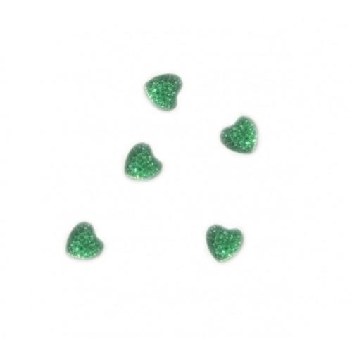 Кабошон Сердце зеленое