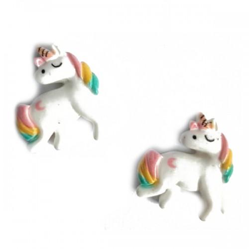 Кабошон Единорог белый