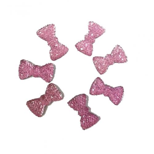 Кабошон Бантик розовый, 20*10 мм