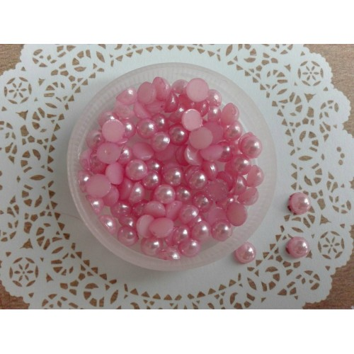Полужемчуг Розовый 5 мм фото