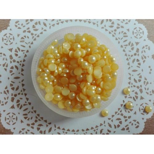 Полужемчуг Желтый 4 мм фото