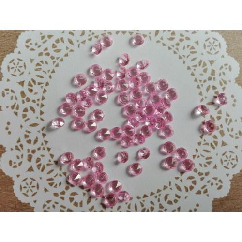 Кристаллы. Розовый, 4,5 мм. 100 шт